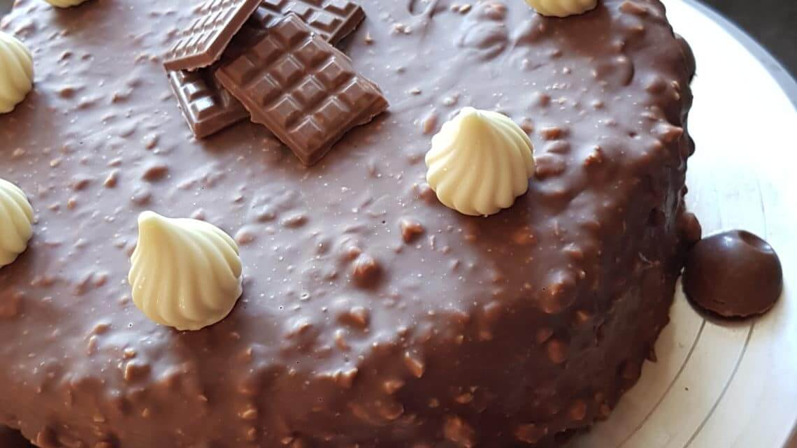 Entremets duo chocolat