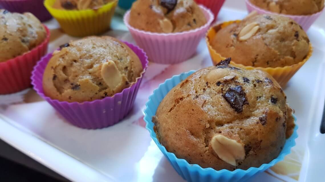 Muffins cacahuète & pépites de chocolat