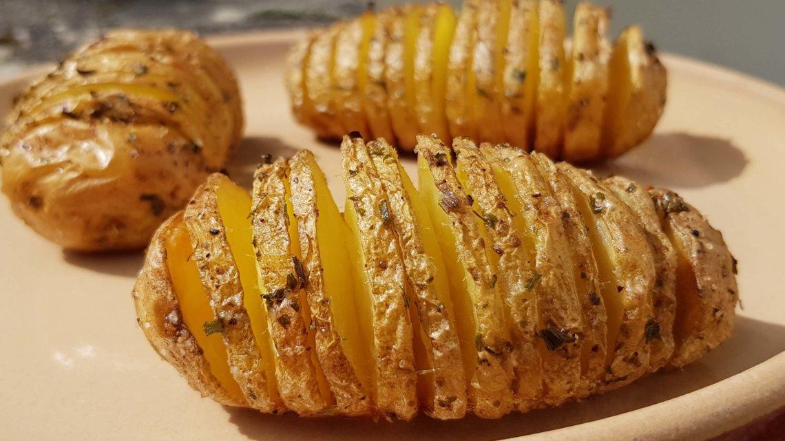 Pommes de terre éventail !